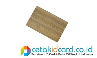 cetak id card bahan kayu